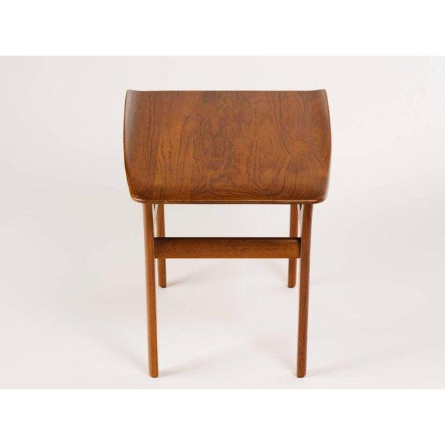 Tan Pair of Danish Mid Century Modern Teak Side Tables For Sale - Image 8 of 13
