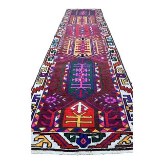 Mid 20th Century Turkish Purple Colored Rug- 3′ × 10′10″ For Sale