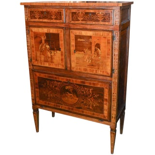 19th Century Italian Neoclassical Cabinet For Sale