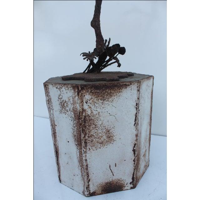 1970's Art Torch Cut Metal Floor Sculpture by Hambleton - Image 8 of 11