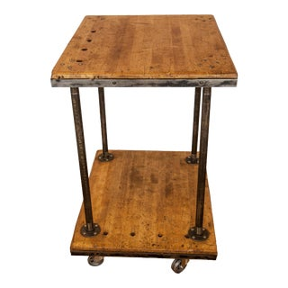 Vintage Industrial Rustic Cart For Sale