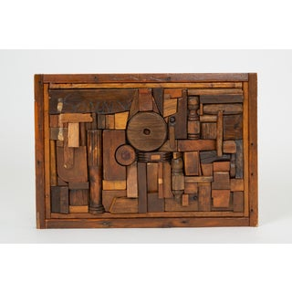 """Woodblock Assemblage """"Sonny"""" by Francis Schanz Preview"""