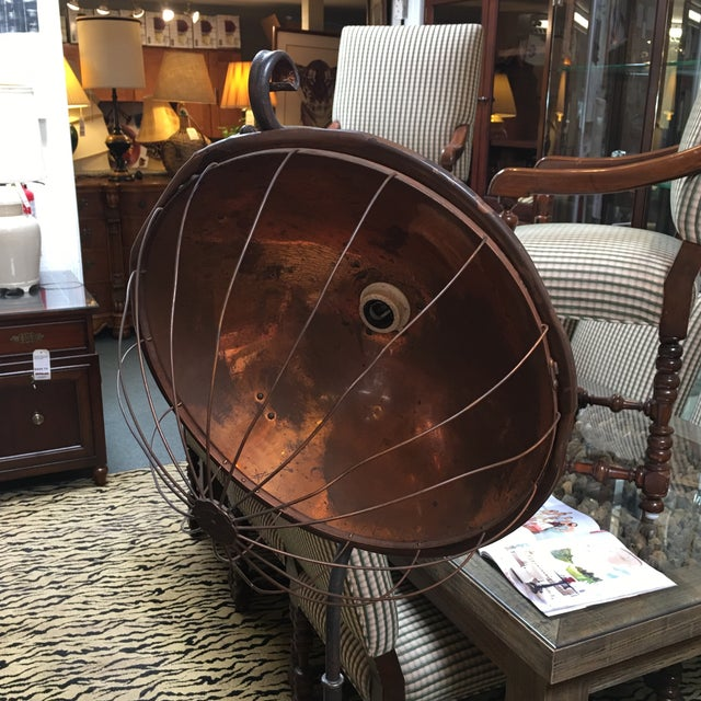 Vintage Copper & Iron Floor Lamp - Image 3 of 8