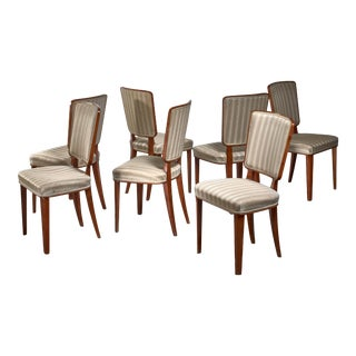 Carl Cederholm Set of Seven Dining Chairs, Sweden For Sale