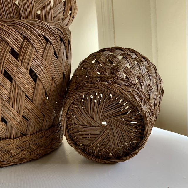 Earthy Classic Basket Vessels, Set of Three For Sale - Image 10 of 13