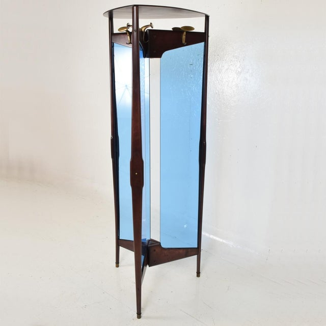 Mid-Century Modern Italian Coat Rack Room Divider After Ico Parisi For Sale - Image 9 of 9