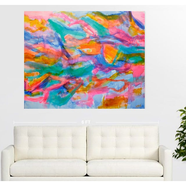 """The color that radiates from this canvas will brighten a room! From the artists """"High Tide Collection"""", come sail away on..."""