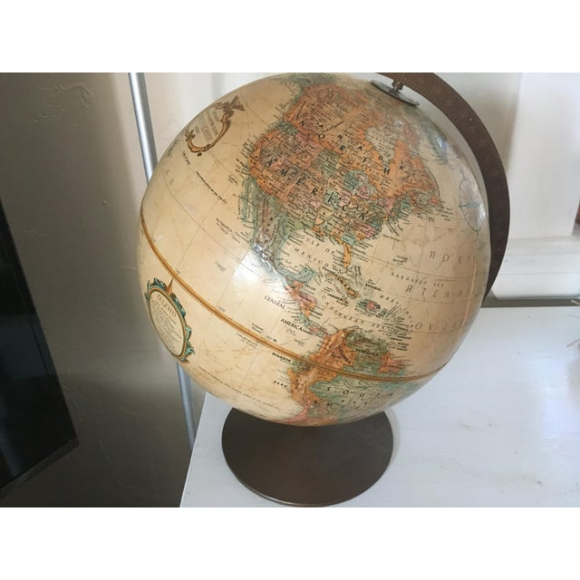 "Brown Vintage 1990 Replogle World Classic Series 12"" Diameter Globe For Sale - Image 8 of 13"