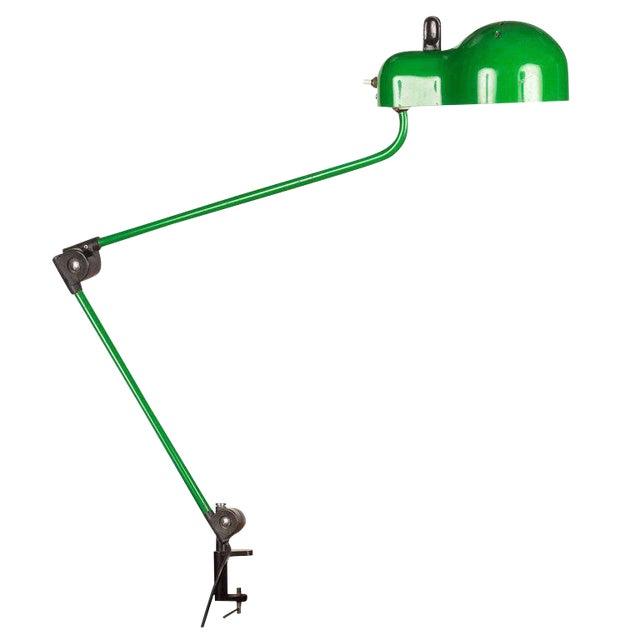 1970s Joe Colombo 'Topo' Green Task Lamp for Stilnovo For Sale