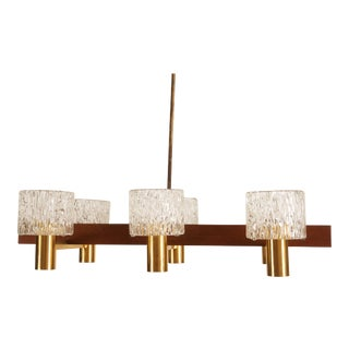 Glass Cylinders Chandelier by Carl Fagerlund for Orrefors For Sale