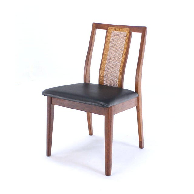 Textile Set of Four Danish Mid-Century Modern Oiled Walnut Side Dining Chairs For Sale - Image 7 of 9