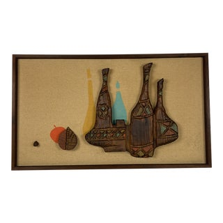 Vintage Witco Tiki Wine Bottle Wall Art 1960's For Sale