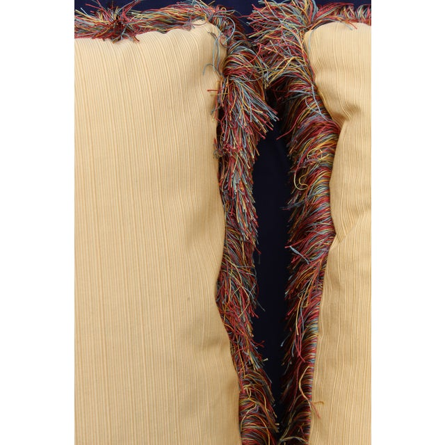 Late 20th C. Pr. Raw Silk Pillows For Sale - Image 4 of 5