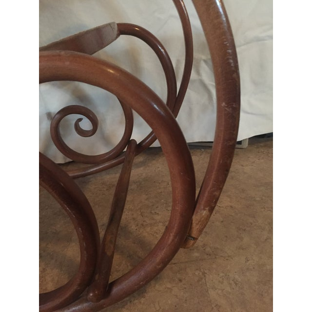 Traditional 1960s Vintage Thonet Style Bentwood Rocking Chair For Sale - Image 3 of 12