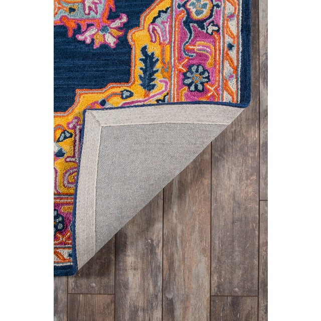 """2010s Ibiza Navy Hand Tufted Area Rug 2'3"""" X 7'10"""" Runner For Sale - Image 5 of 7"""