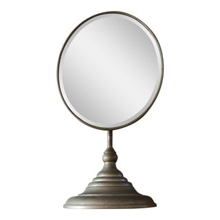 Antique Distressed Shaving Mirror For Sale