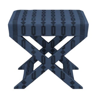 X Bench in Azul Doro For Sale