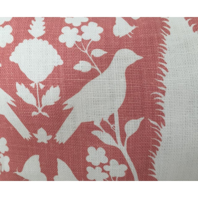 Not Yet Made - Made To Order Schumacher Chenonceau Lumbar Pillow in Coral Pillow Cover, 14x24 For Sale - Image 5 of 6