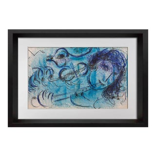 Marc Chagall Original Double Lithograph, 1957