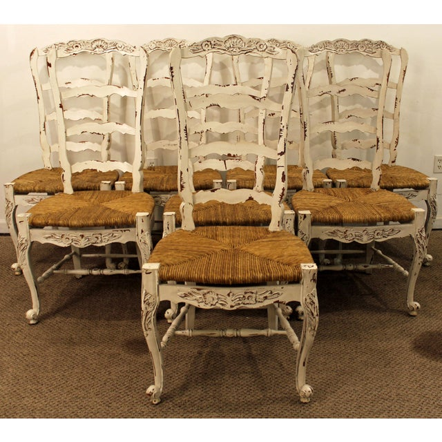French Country Ladder Back Dining Chairs