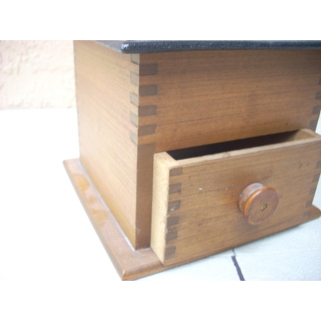 Antique Wood Coffee Mill - Image 3 of 5