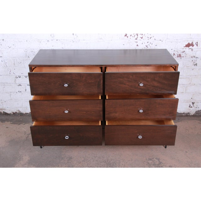 1950s Paul McCobb Planner Group Iron Base Six-Drawer Dresser or Credenza For Sale - Image 5 of 13