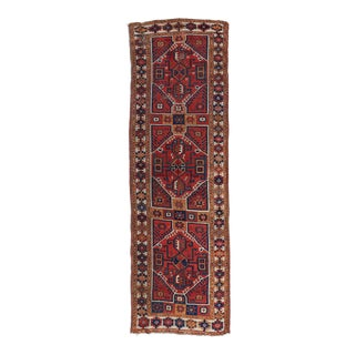 1800s Turkish Central Anatolian Runner Rug - 3′11″ × 11′1″ For Sale