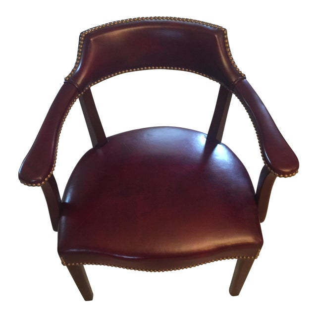 Admirable Hancock Moore Leather Captains Chair Chairish Machost Co Dining Chair Design Ideas Machostcouk