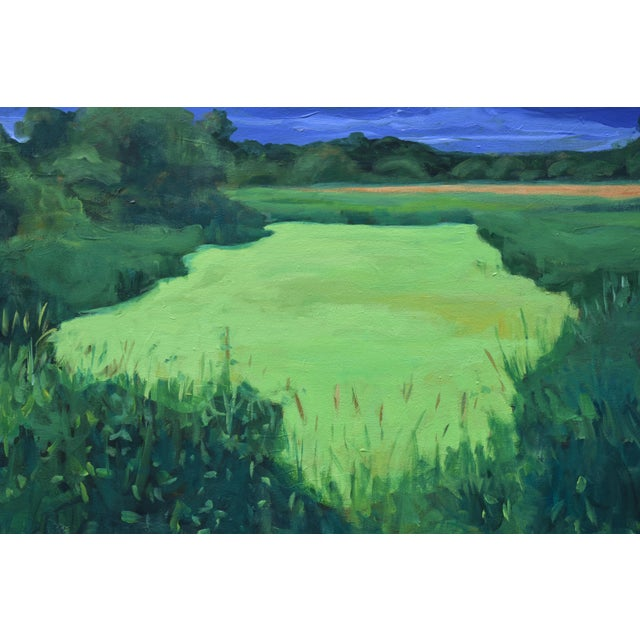 """2010s """"Glowing Green ~ Algae Covered Pond"""" Contemporary Painting by Stephen Remick For Sale - Image 5 of 13"""