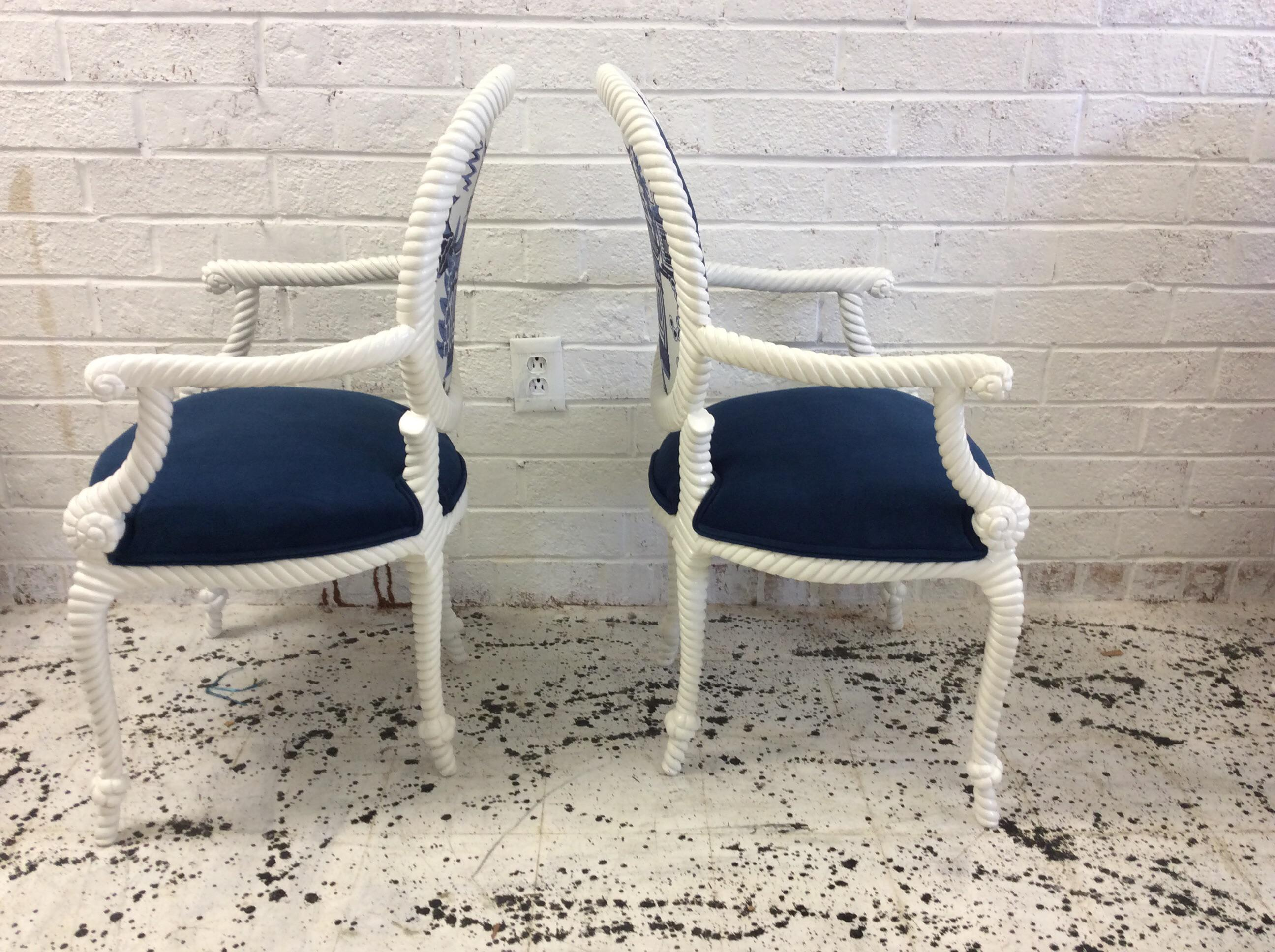 Schumacher Upholstery Rope U0026 Tassel Chairs   Set Of 6 For Sale In  Greensboro   Image