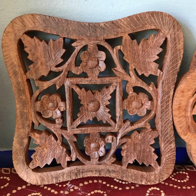 Hand-Carved Trivets - Set of 3 For Sale In Atlanta - Image 6 of 10