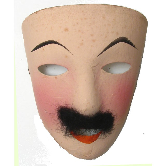 Vintage French Mardi Gras Masks - Set of 5 - Image 3 of 5