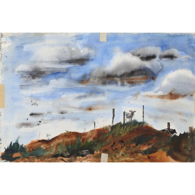 Artist: Eve Nethercott, American (1925 - 2015) Title: West Hampton (P3.32) Year: 1958 Medium: Watercolor on Paper (double-...