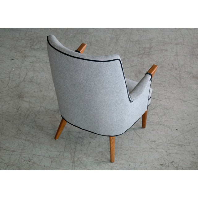 """Gray Svend Skipper """"Mama Bear"""" Wingback Lounge Chair For Sale - Image 8 of 11"""