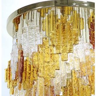 Albano Poli for Poliarte Italian Midcentury Murano Glass Flush Mount Chandelier Preview