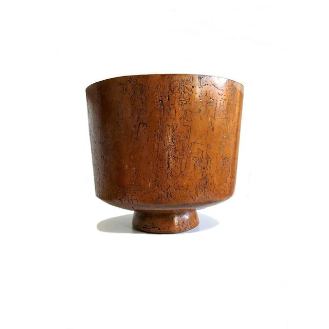Brown 1950s Mid Century Turned Wood Footed Planter For Sale - Image 8 of 8