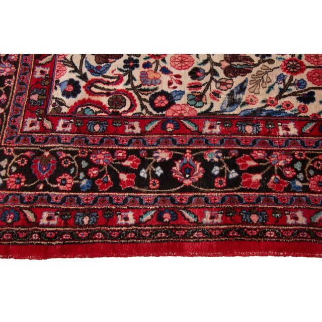 """1960s Vintage Persian Rug, 8'10"""" X 12'09"""" For Sale - Image 5 of 9"""