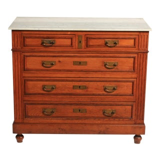 Antique Napoleon III-Style Marble Top Dresser Circa 1900 For Sale
