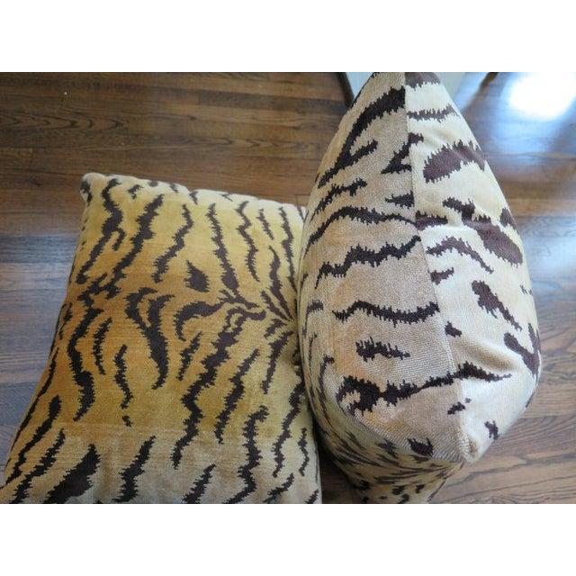 2010s Scalamandré Le Tigre Silk Velvet Pillows For Sale - Image 5 of 6