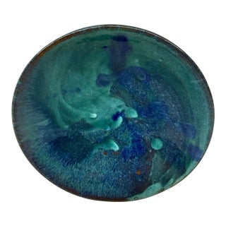 Abstract Artisan Clay Ceramic Low Bowl