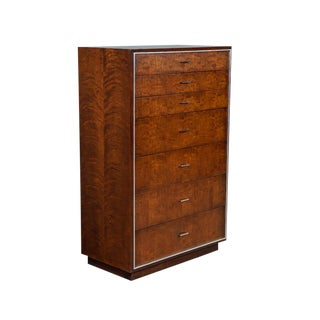 1970s Mid Century Modern John Stewart Chest With Metal Inlay For Sale