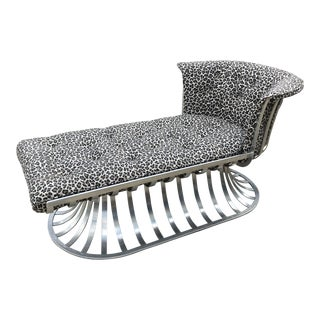Russell Woodard Aluminum Spoke Chaise Lounge For Sale