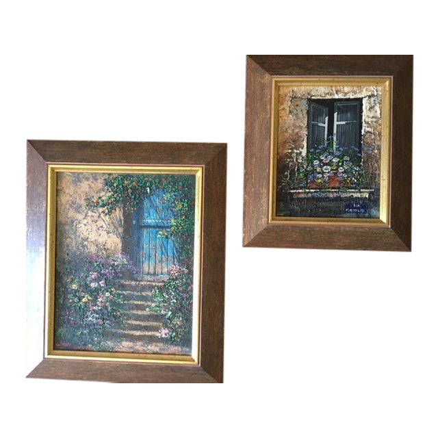 Paris Rue Montmartre Paintings - Pair - Image 1 of 4