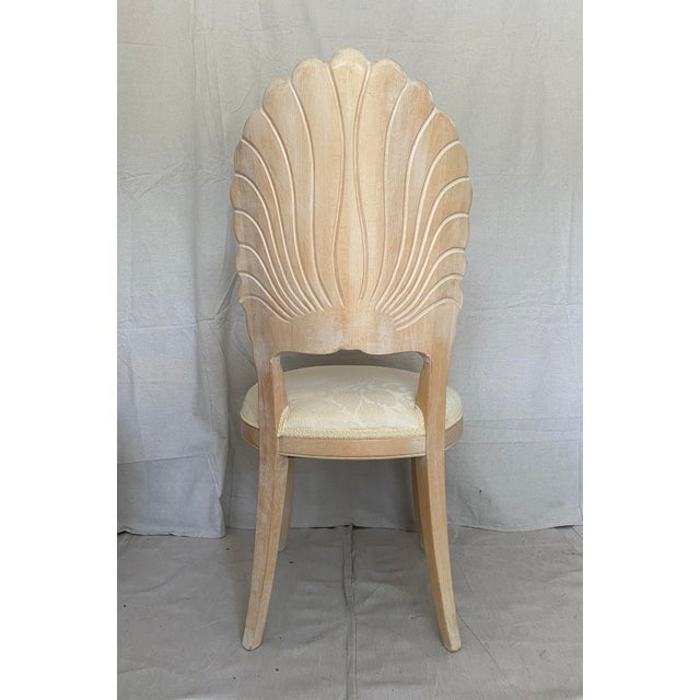 Wood Vintage Carved Back Shell Chairs- Set of 6 For Sale - Image 7 of 13