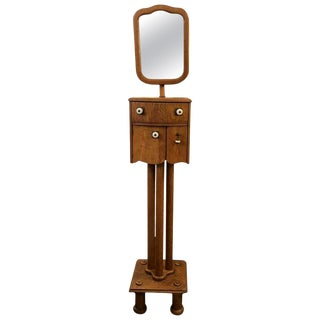 Mid-Century Modern Shaving Stand With Telescoping Mirror For Sale