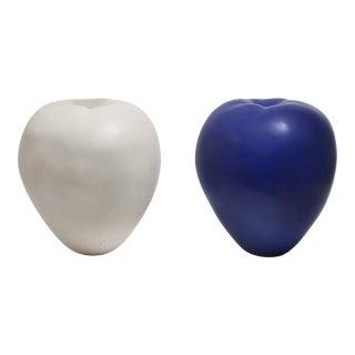 Anat Shiftan (Israeli – American, B. 1955) Apples in White and Blue, 2013
