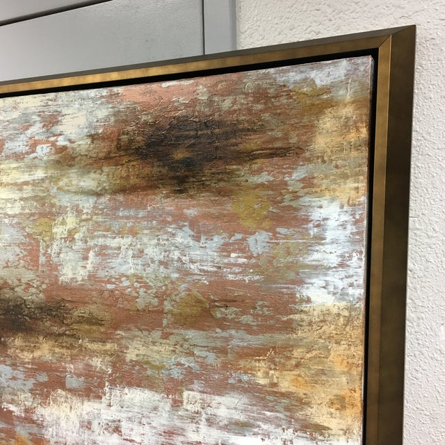 """Horchow Original Oil Painting Titled """"Luminescence"""" in Custom Frame - Image 3 of 11"""