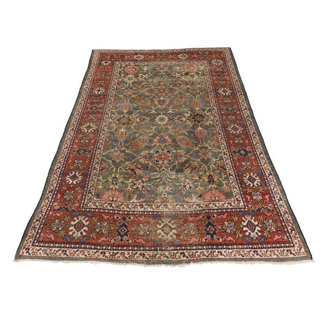 Antique Persian Sultanabad with Modern Design For Sale - Image 5 of 7