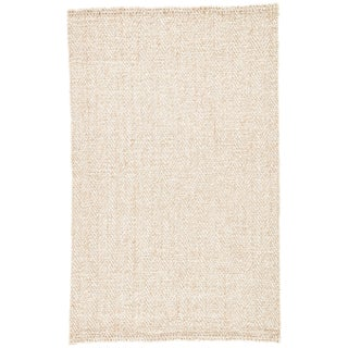 Jaipur Living Haxel Handmade Chevron White/ Beige Area Rug - 5' X 8' For Sale