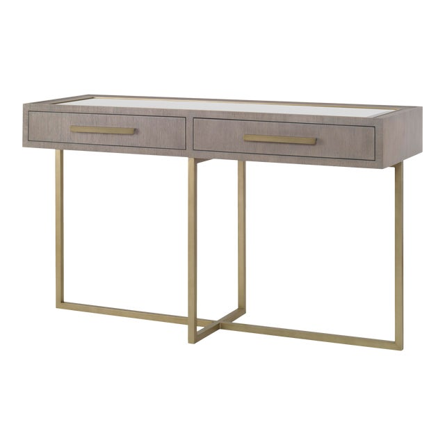 Century Furniture Kendall Console and Mirror For Sale